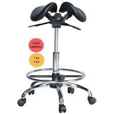 ergonomic chair betterposture saddle chair jobri. Split Seated Saddle Chair With Foot Ring For Medical Or Dental Ergonomic Betterposture Jobri