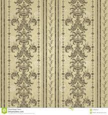 Bloemen Patroon Barok Behang Damast Schoon En Helder Ontwerp Vector