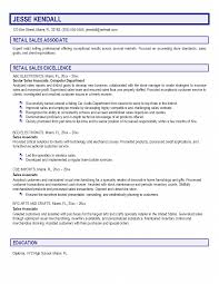 Resume Examples For Retail Sales Associate Examples Of Resumes