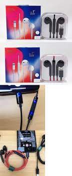 Headsets 80077: For Iphone 8 Plus Xr 7 Bluetooth Wired Headset Earphones W  Mic Volume Control -> BUY IT NOW ONLY: $11.99 on #eBay …   Iphone black,  Earphone, Iphone