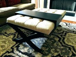 soft coffee table ottoman tables padded edge