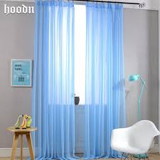 Modern Privacy Sheer Curtains Blue Eco-friendly