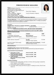 Resume Best Resume Formats Template Good Samples Sample Larger