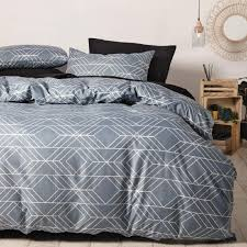 living co duver cover reversible light grey charcoal single the warehouse