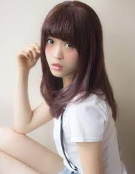 髪型ピンク系のカラー秋色色持ち ヘアカタログ銀座の美容