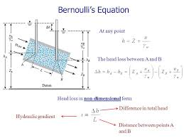 bernoulli 39 s equation. 12 bernoulli\u0027s equation at any point the head loss between a and b in non-dimensional form hydraulic gradient distance points bernoulli 39 s