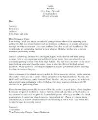 sorority letter of recommendation example sorority recommendation letter sample pertaining to best for