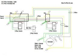 wire a ceiling fan 3 way switch diagram