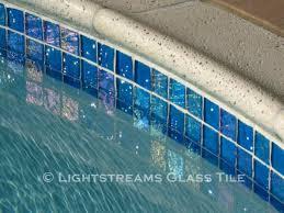 swimming pool waterline glass tiles using waterline pool tiles for swimming pools ideas