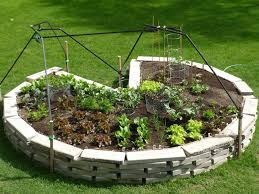 Small Picture Keyhole Gardens Can Maximize Growing Space and Make Harvesting