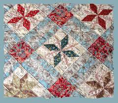 Vintageblessings Antique Quilts And Linens - Antique Quilts For Sale & c1840s Toile Star Quilt with Pillar Print Backing Adamdwight.com