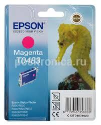 Купить <b>Картридж Epson</b> T0483 пурпурный (<b>C13T04834010</b>) в ...