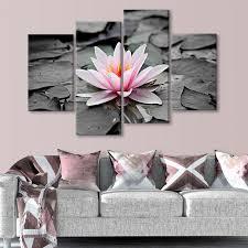 Pink Lotus Size Chart Pink Lotus Multi Panel Canvas Wall Art