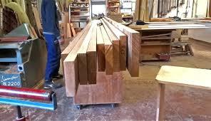 Fabrication Artisanale Plan Travail Massif Partie Fabriquer Salle