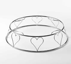 Heart Wire Cake Stand - Round
