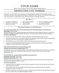 Brilliant Ideas Of Resume Assembly Line Operator Line Worker Resume