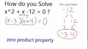 solve x 2 x 12 0