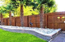garden landscaping ideas. Exterior:Virginia Beach Retaining Walls For Backyard Garden Landscaping Combine Palm Tree Plants Plus Wooden Ideas L