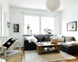 Living Rooms  Living Room In Small Space Idea With L Shapes Ofa Coffee Table Ideas For Small Living Room