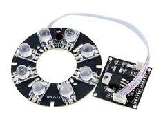 8-LED Security Camera <b>Infrared Light Board</b> (Black) by QLPD ...