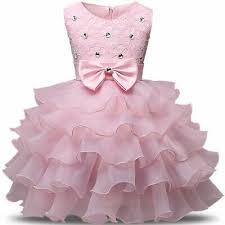Newborn <b>Baby Girl</b> Dress Princess Tutu <b>Lush Baptism</b> Gown 1st ...