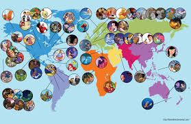 Carte Du Monde Des Dessins Anim S Disney