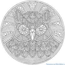 Small Picture Flower Mandala Picture to Color Stained Glass Window Mandala