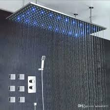 kohler rain shower head rain shower head luxury bathroom ceiling led rain shower set brushed big