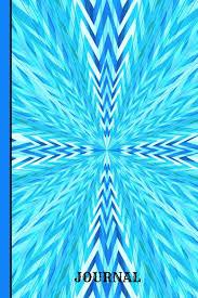 Journal Burst Of Blue Colors Graph Journal Notebook