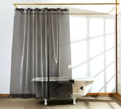 clear top panel bathroom decorating transpa shower curtain smlf curved