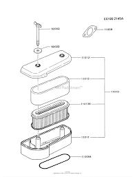 Kawasaki fb460v bs22 4 stroke engine fb460v parts diagram for air rh jackssmallengines air filter