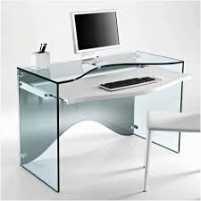 modern glass office desk for astonishing brilliant modern computer desk with glass table and side frame