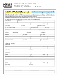 Wholesale Credit Application 10 Printable Customer Credit Application Form And Agreement