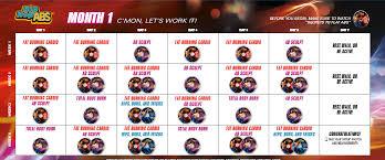 Hip Hop Abs Workout Chart Beachbody Hip Hop Abs Workout Schedule Eoua Blog Workout
