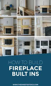 want to build some diy fireplace built ins in your living room building these cabinets shelves mantle and recessed spot for the tv has added so much
