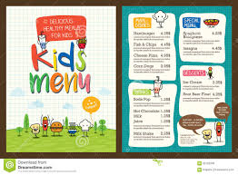 Of Fork 62122236 Colorful Menu - Stock Concept Template Cute Kids Vector Illustration Meal