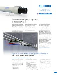 Pex Pipe Volume Chart Commercial Piping Engineer Reference Guide Manualzz Com