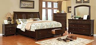 transitional bedroom furniture. Exellent Furniture Castor Collection Transitional Bedroom Furniture 4pc Set Brown Cherry  Eastern King Size Bed Dresser Mirror Nightstand In Y