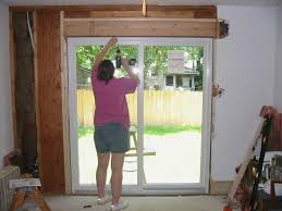 how to install patio doors unique installing sliding patio door new opening about