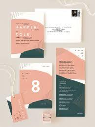 Corporate Invitation Design Inspiration Jade And Peach Geometric Invitation Suite Customization