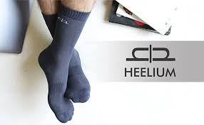 Heelium Men Bamboo Calf Length Cushioned <b>Breathable Anti Slip</b> ...
