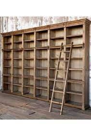 farmhouse antique wall shelf unit with