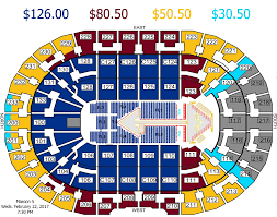 Quicken Loans Seating Chart Seat Map Quicken Loans Arena Best Seat 2018
