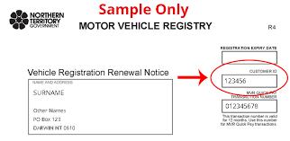 on vehicle registration nt gov au