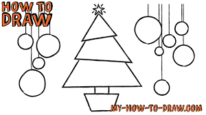 How to draw a Christmas Tree Card - Easy step-by-step drawing tutorial -  YouTube