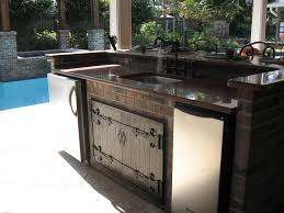 Cabinets For Outdoor Kitchen Lovely Outdoor Kitchen Exterior Design Ideas With Permanent Brown