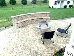 stamped concrete patio with square fire pit. Concrete Patios With Fire Pits Pit Seating Wall Stamped Square Gas Fi Stamped Concrete Patio With Square Fire Pit -