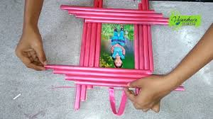 the best out of waste how to make photo frame with news paper photo frame making at home