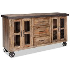Kitchen Sideboard Intercon Taos Rustic Sideboard With Roll Up Media Drawer Wayside