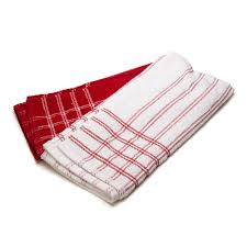 professional series chef towel set red 2pce
